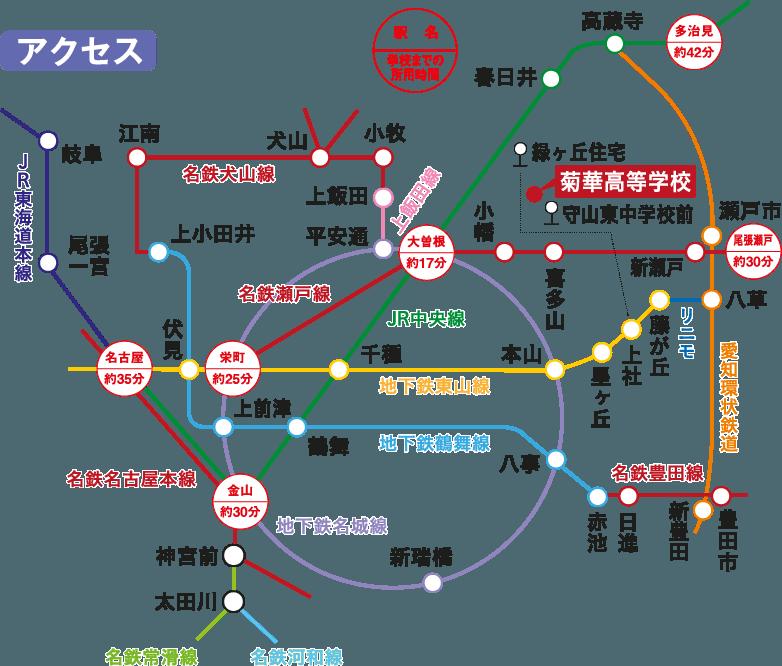 学校アクセス路線図